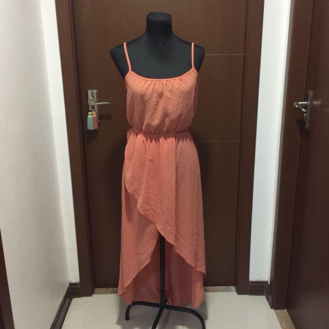 Generic Peach Dress ( long back)