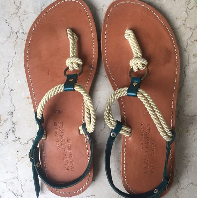 Greek sandals, bought in Athens Greece!, Size 8 for narrow feet