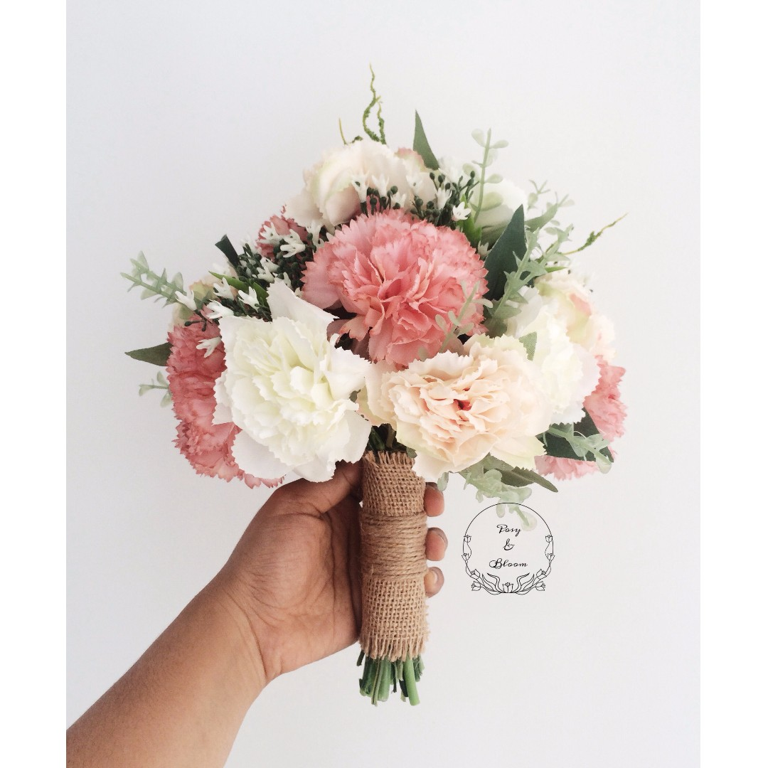 artificial hand bouquet for rm 90 exc postage design