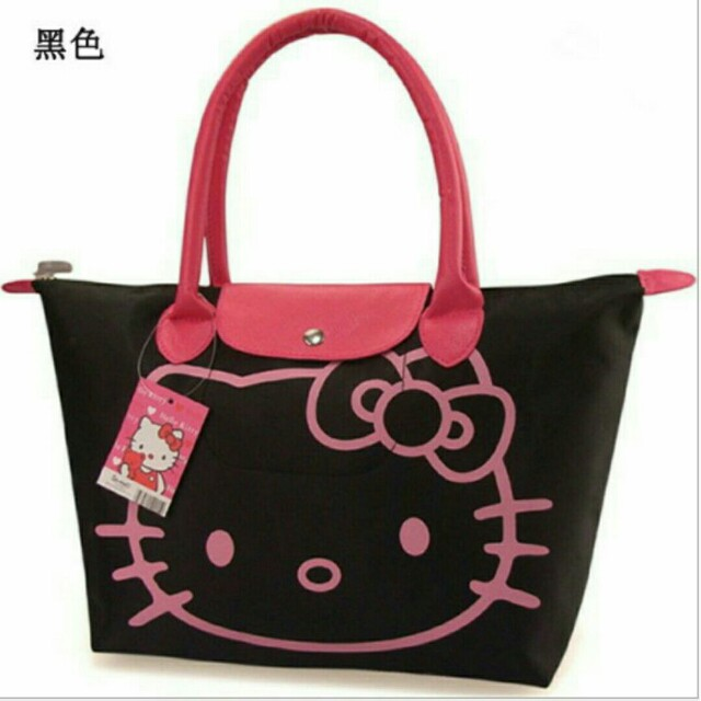 6ffbc592a7c1 HELLO KITTY LONGCHAMP INSPIRED TOTE BAG