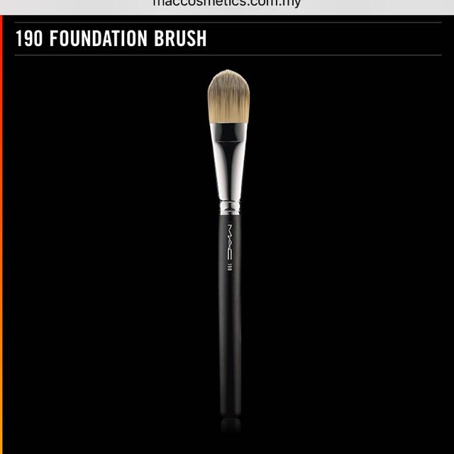 INC postage Authentic MAC foundation brush in 190