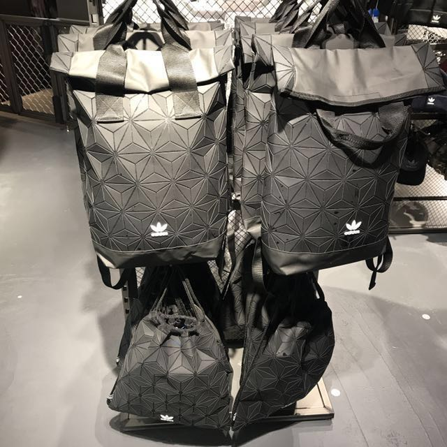 8be7d71a157 🇯🇵Japan Adidas Originals Black   White Origami Fold Over Roll Top 3D Mesh  Backpack, Drawstring Bag   Clutch, Men s Fashion, Bags   Wallets on  Carousell