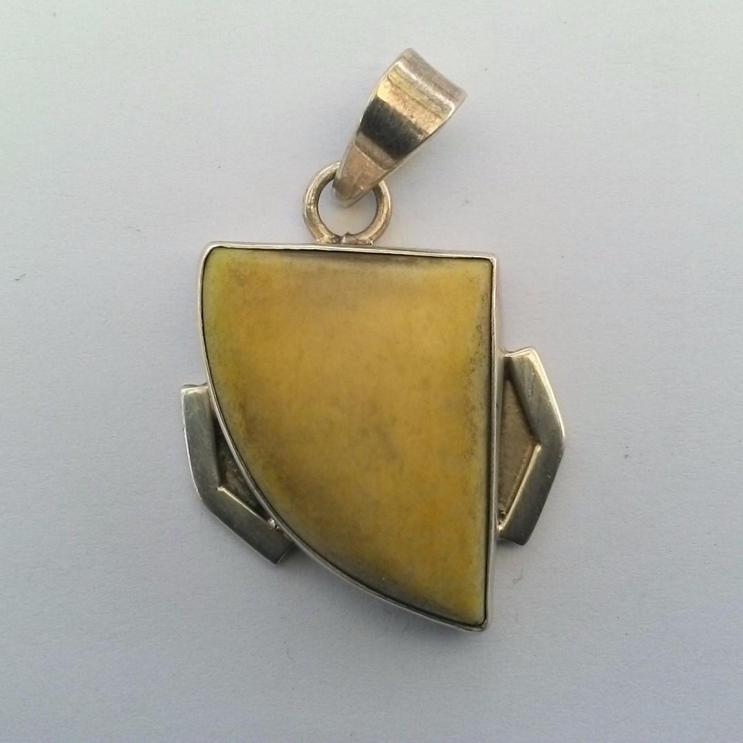 Jade Sterling Silver Pendant
