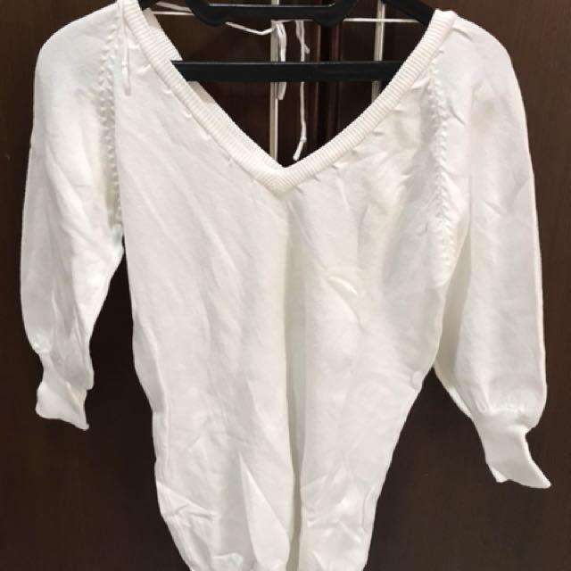 Knit top white