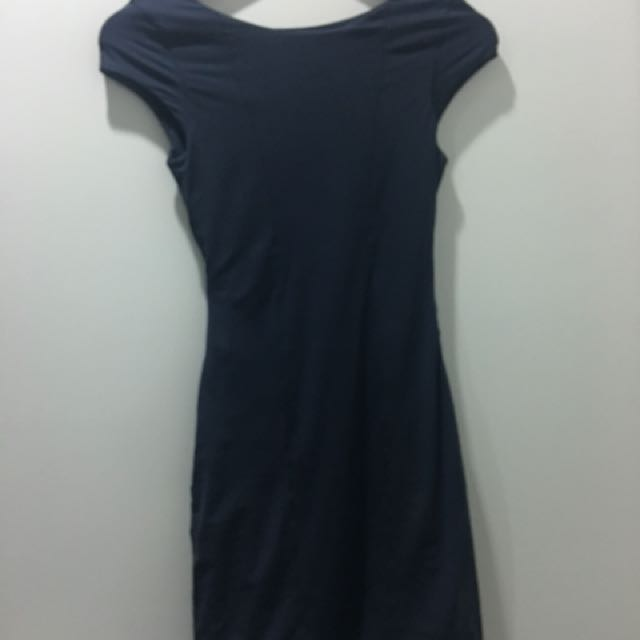 Kookai charcoal cutout dress size 1