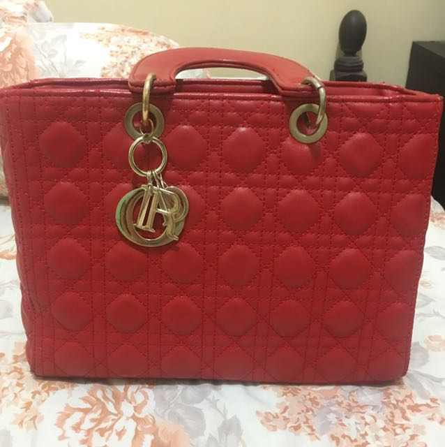Lady Dior Red Large