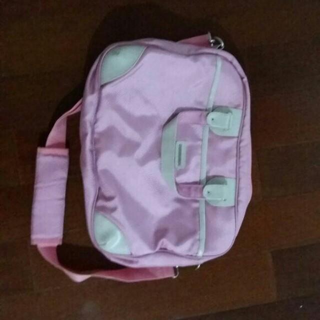 [TURUN HARGA] Lap top bag - pink