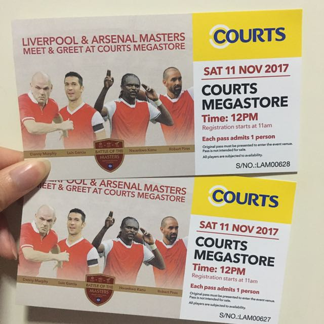 Liverpool arsenal masters meet greet entertainment events liverpool arsenal masters meet greet entertainment events concerts on carousell m4hsunfo