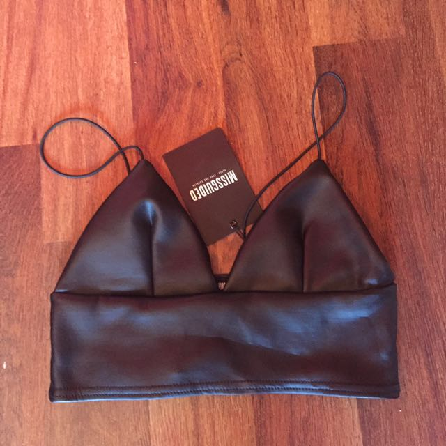 Missguided leather looking crop