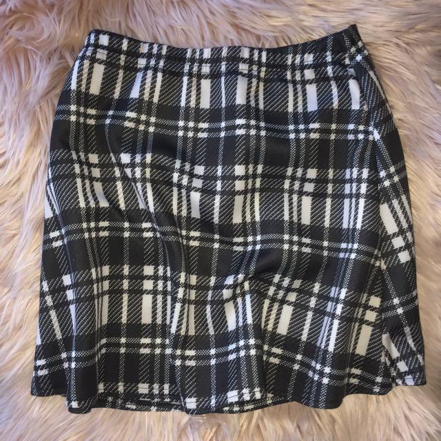 Monochrome Mini Skirt