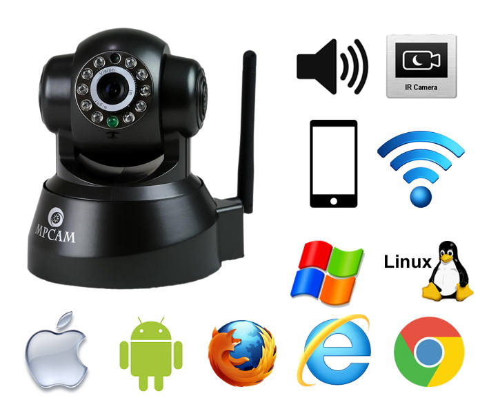 MPCAM wireless night vision security ip camera