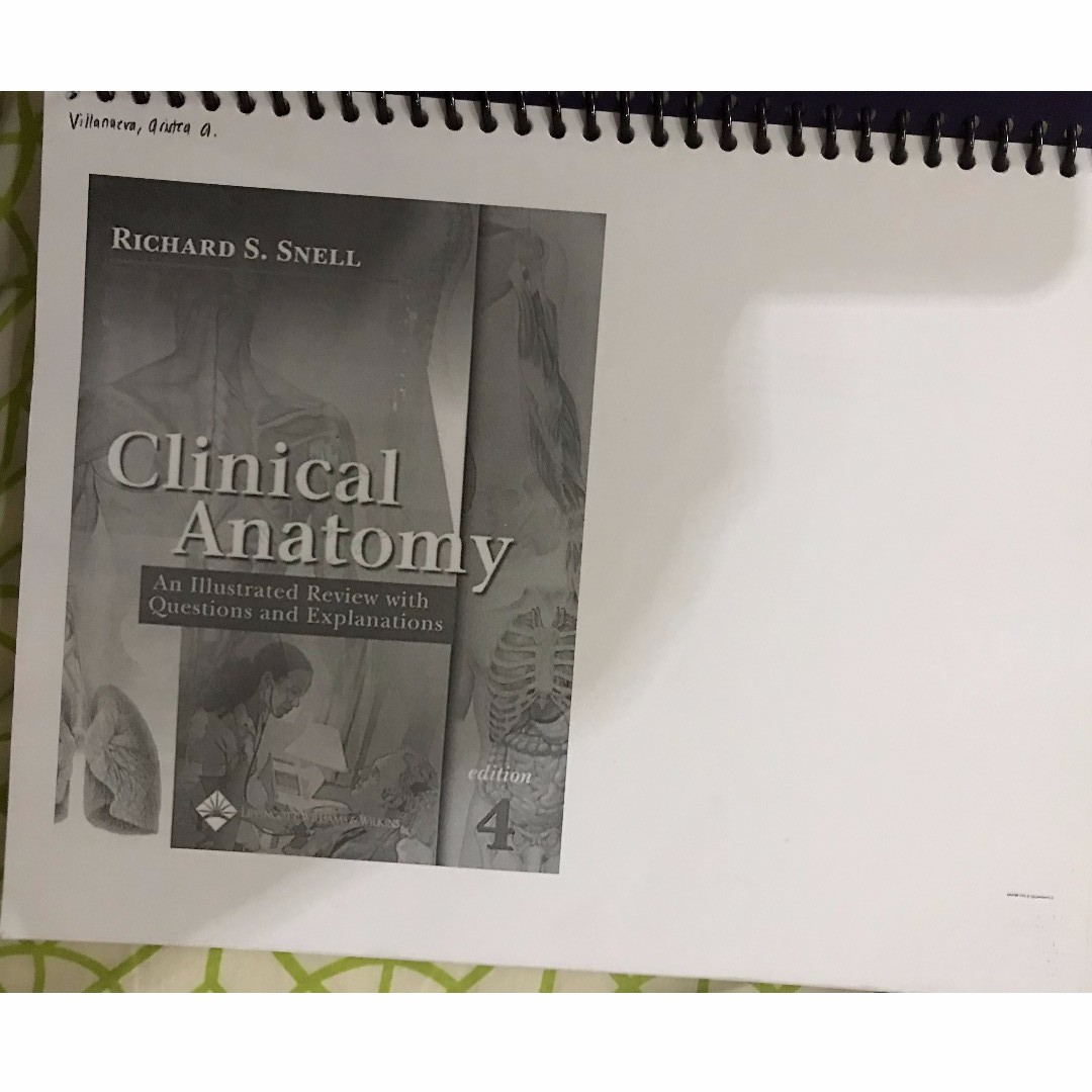 Mrs Microbiology 6th Edition And Snell Review Clinical Anatomy 4th