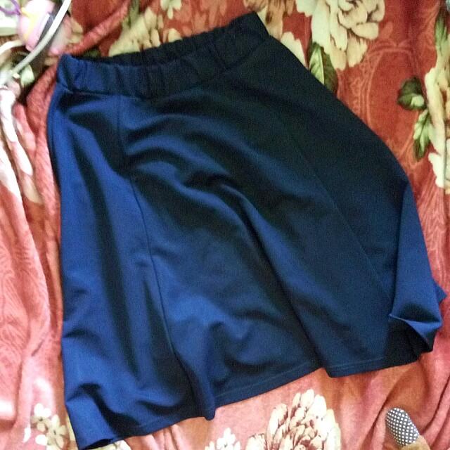 Navy A-Line Skirt