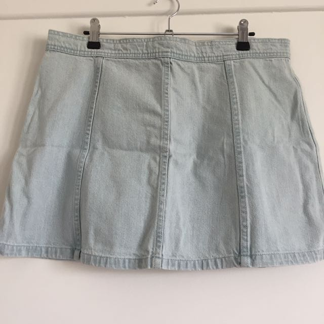 NEW All About Eve Denim Skirt S14