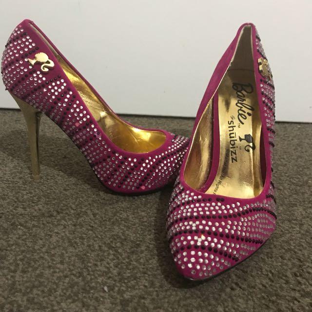 *NEW* Barbie Fuchsia High Heels shoes size 38