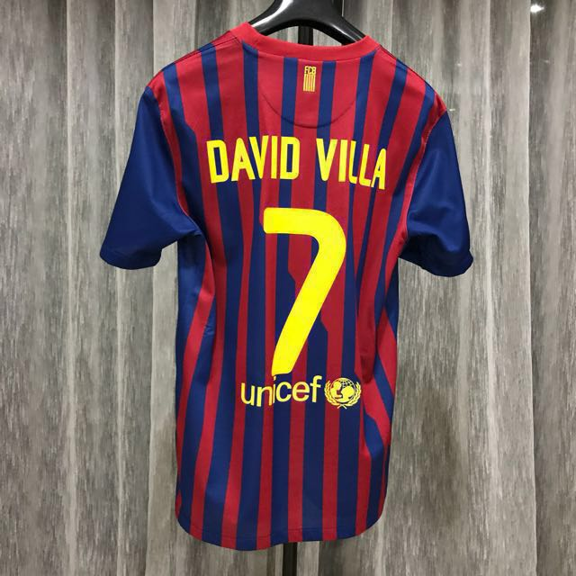 78df9497ddc 🔻NIKE DAVID VILLA BARCELONA 2011/12 home jersey, Sports, Athletic & Sports  Clothing on Carousell