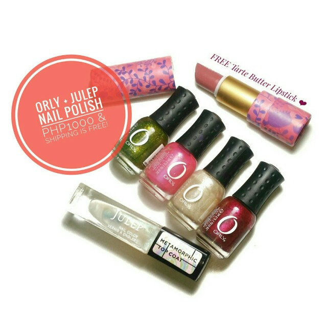 Orly Nailpolish set with Julep Monochromatic Top Coat and FREE Tarte ...