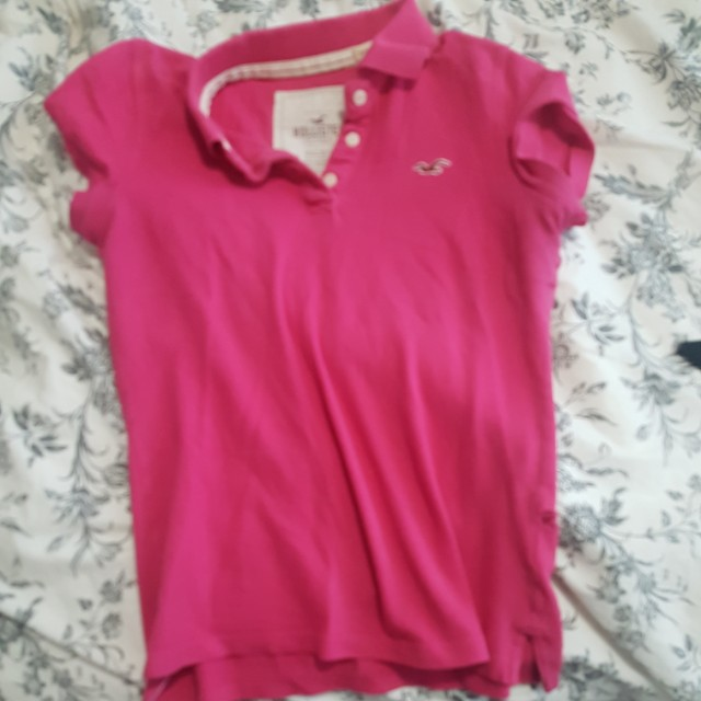 Pink Hollister polo