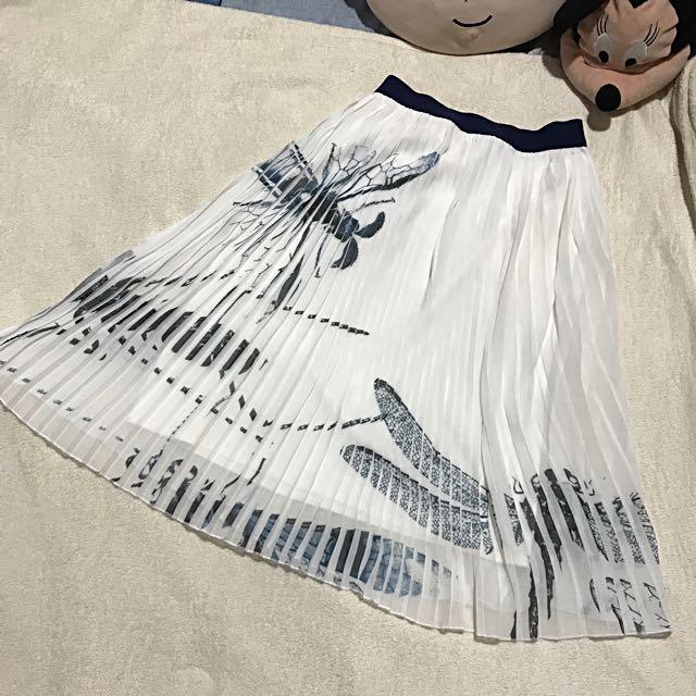Plains&Prints pleated skirt