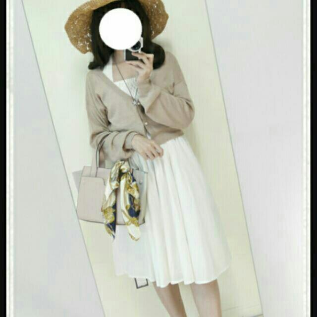 (降)Rika&albert LAGNAMOON可拆粗綁帶平口假兩件式花苞連身洋裝