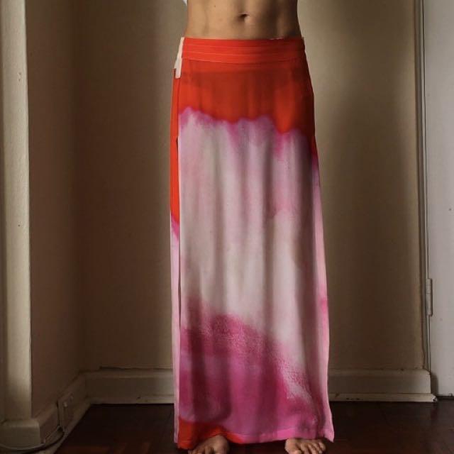 Sass and Bide Silk Maxi Skirt
