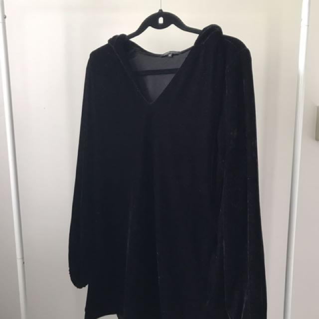 Scrapbook Faux Velvet hoodie Dress