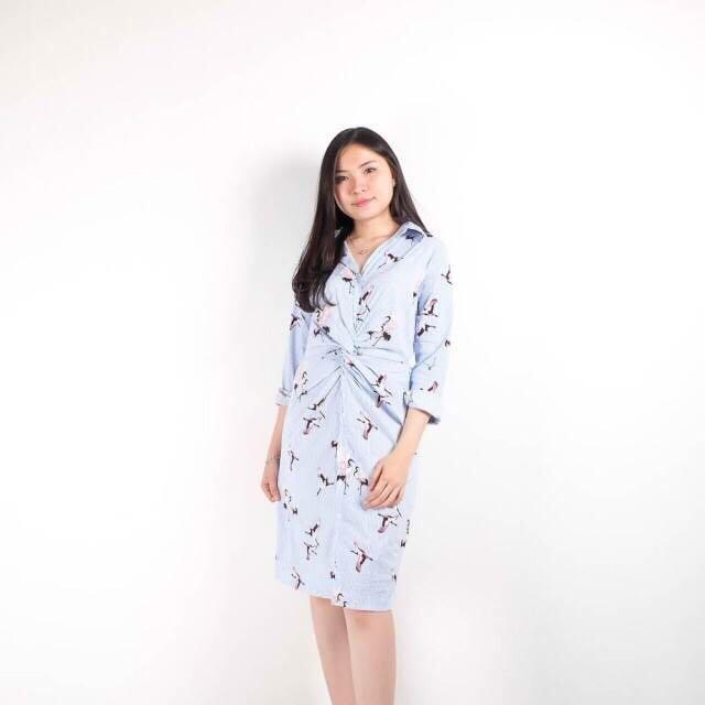 Seagull Twist Dress