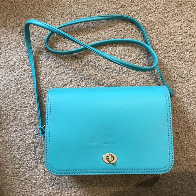 Seed turquoise tote