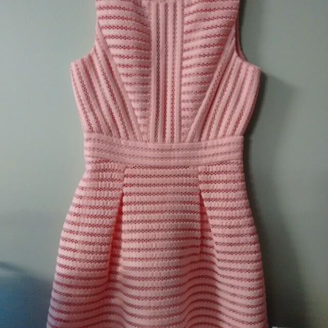 Spotlight peach party dress-8