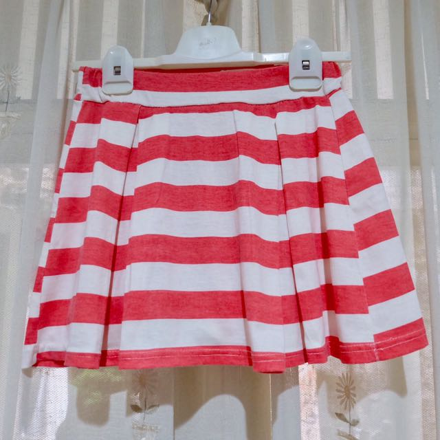 Stripe Peach Flare Skirt