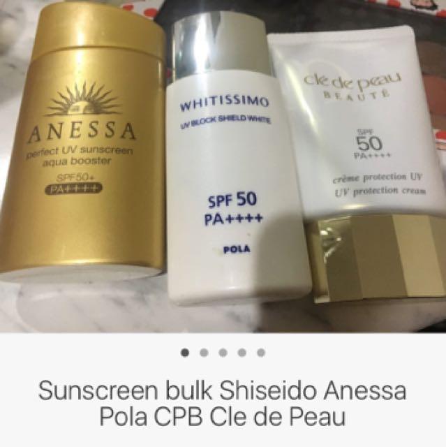 Sunscreen bulk cpb shiseido Anessa