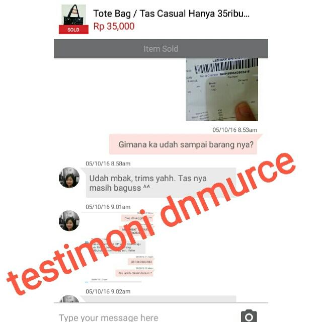 🌺Testimonial Dari Customer Dnmurce🌺