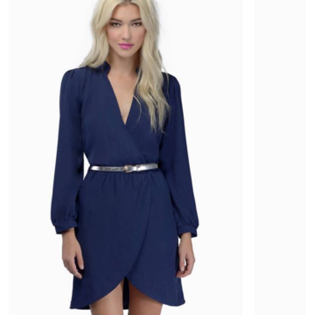 TOBI navy tulips are better than one dress in XS