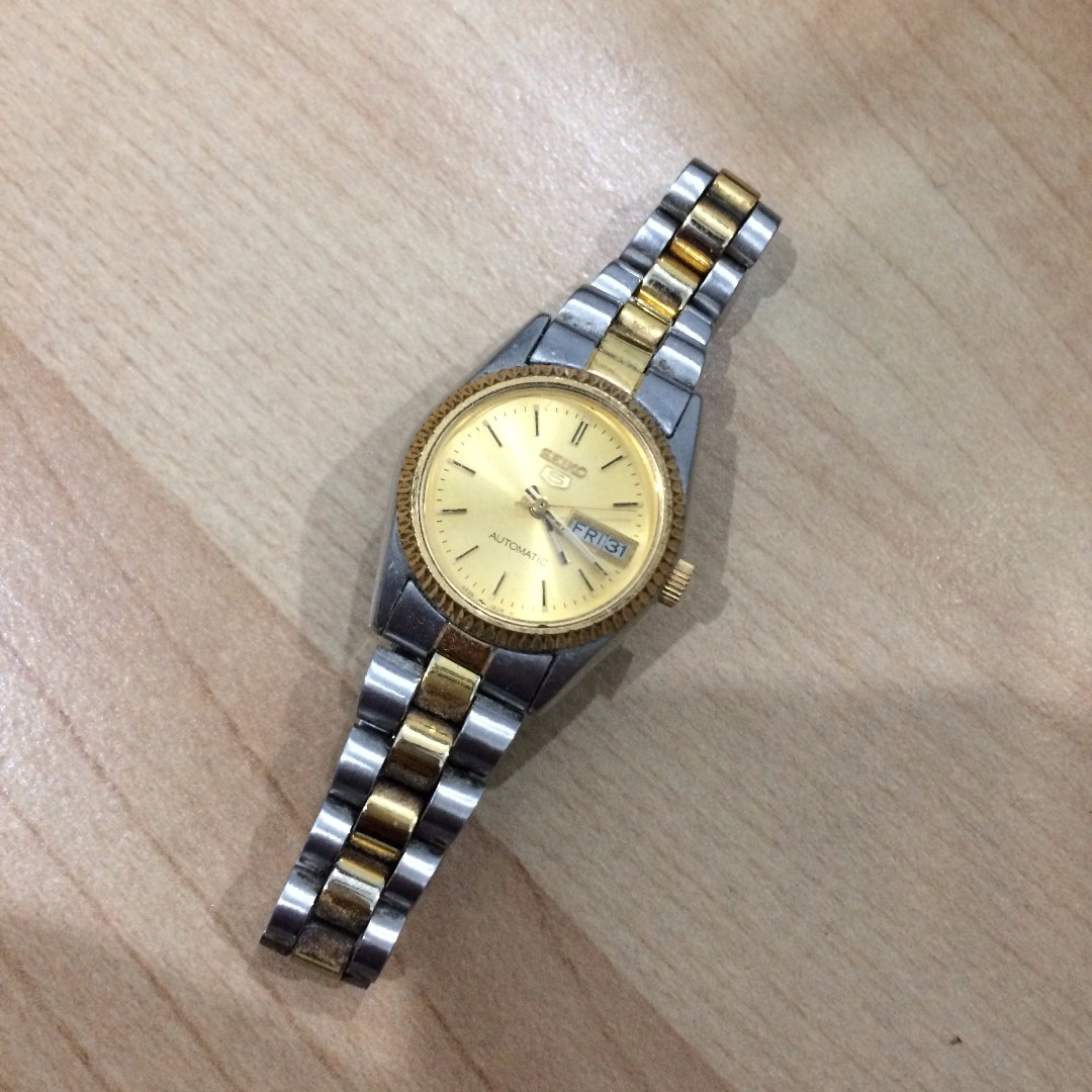 Used Seiko 5 Suaa84 Automatic Watch Womens Fashion Watches On Two Tone Analog Original Brand New Carousell