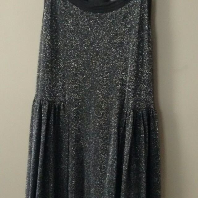 Vans charcoal sparkly racer back dress-xs-8
