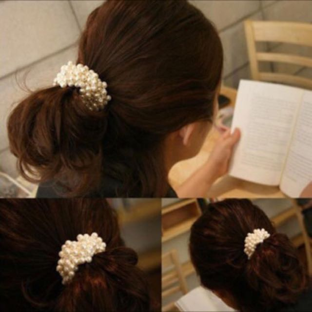 White Pearls Hairbands