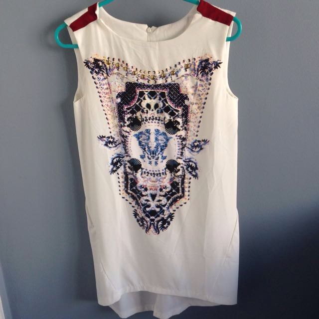 White Studded Top
