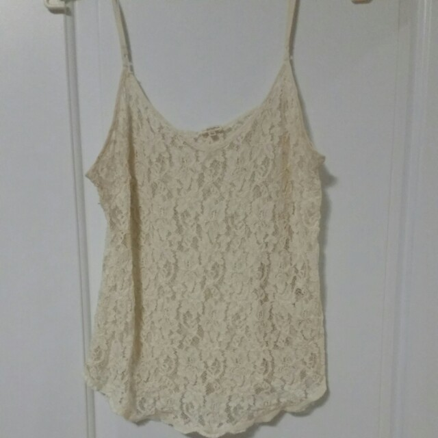 Wilred sheer lace top size L