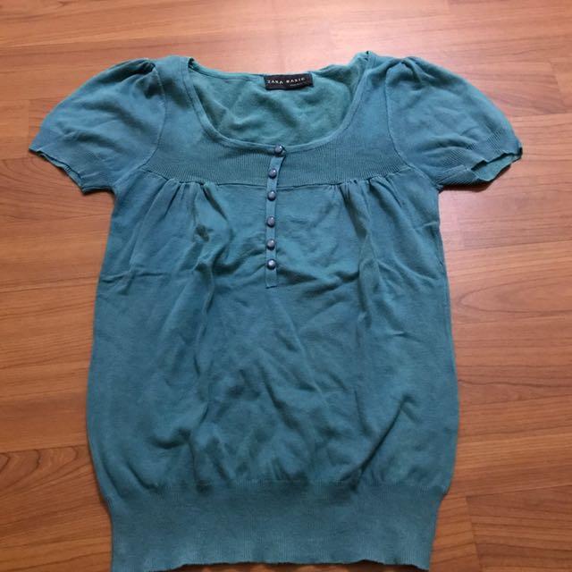 Zara basic blouse