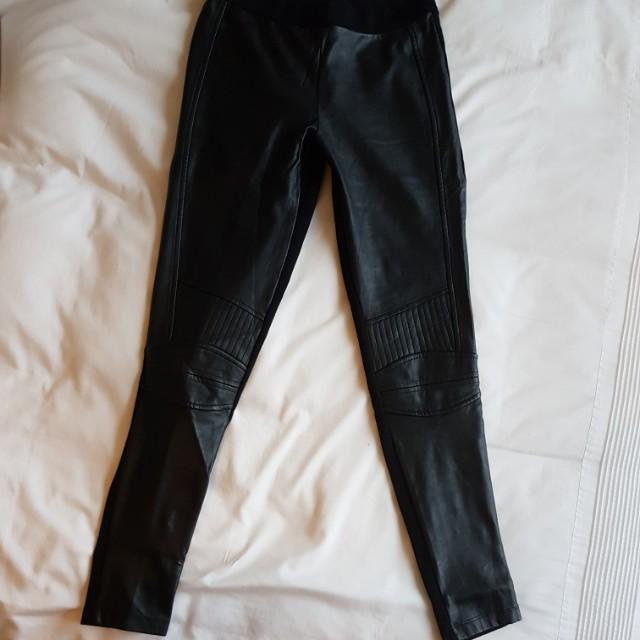0ba4c2ac Zara moto faux leather leggings (size us s; mex 26), Women's Fashion ...