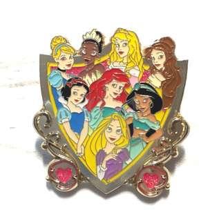 Disney 迪士尼 公主 Princess 美人魚 茉莉 白雪 灰姑娘 貝兒 長髮公主 Pins 襟章 徽章
