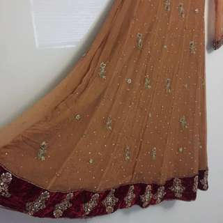 Wedding wear , long anarkali