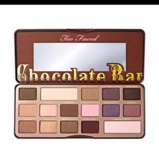 Two faced chocolate bar eyeshadow pallete