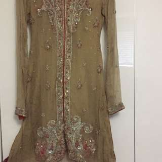 High low wedding attire kameez