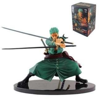 One Piece Roronoa Zoro Triple Sword Figure 14cm (New)