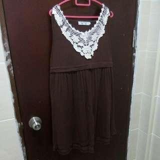 Nursing brown dress