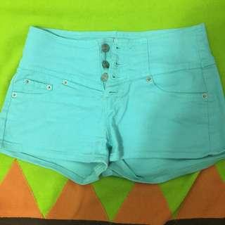 🚚 青綠色短褲