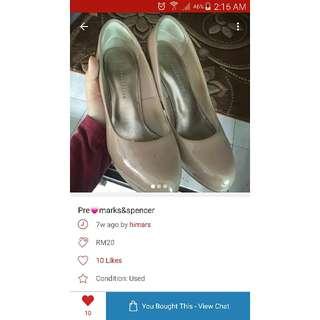 MARKS & SPENCER nude heels/ pumps (preloved)