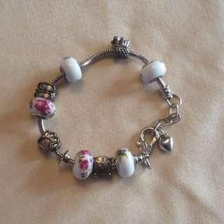 BNIP Floral Charm Bracelet