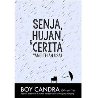 Ebook Senja, Hujan, & Cerita yang Telah Usai - Boy Candra